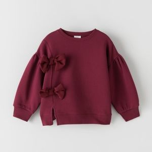 Sweatshirt with Bows Size 6 NWT